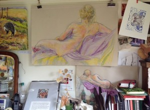 A glimpse inside my studio